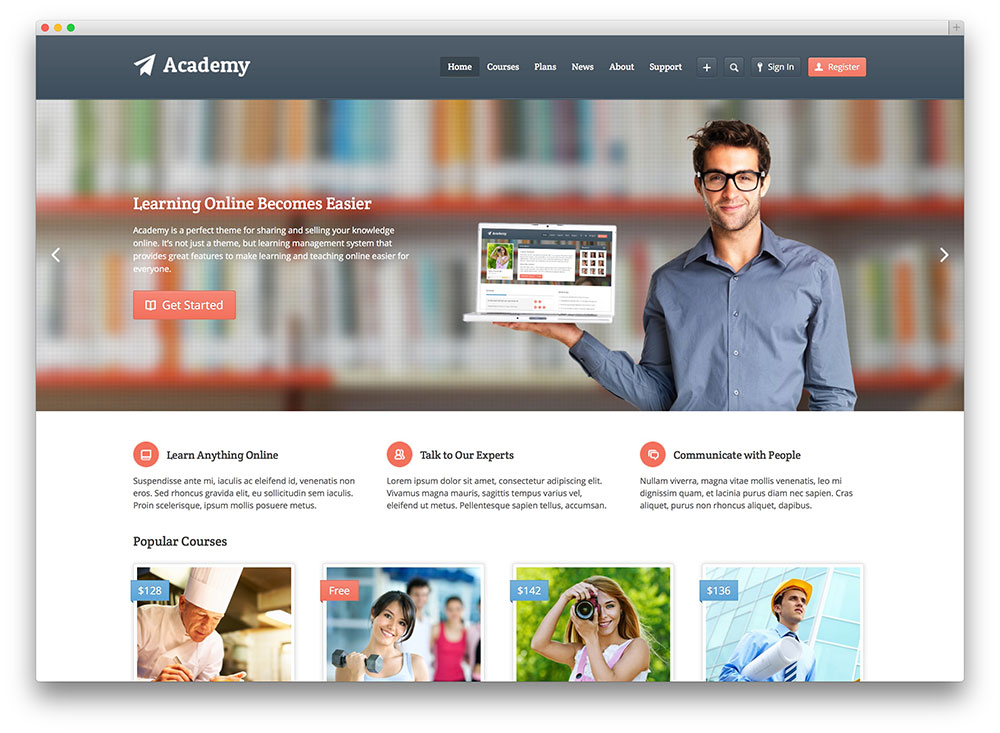 Create online course website | Learning Management System