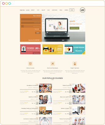 lms 3 Create online course website | Learning Management System