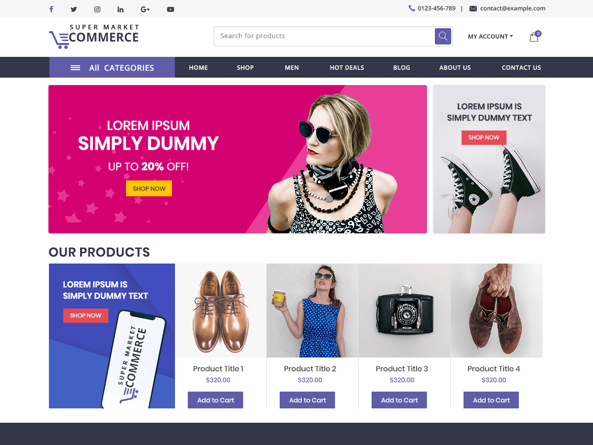 Start your E-commerce website at low cost