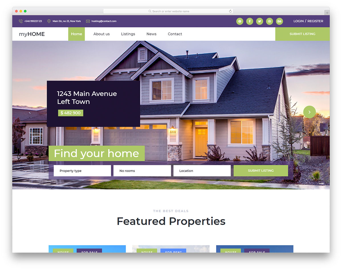 Real Estate Website at low cost for Agencies and Agents